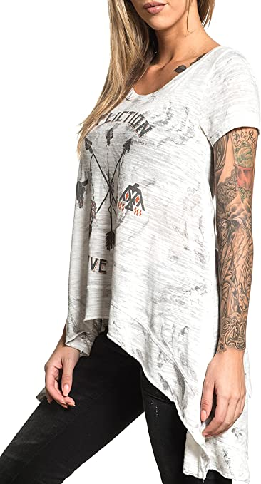 Affliction Country Oak Short Sleeve Top