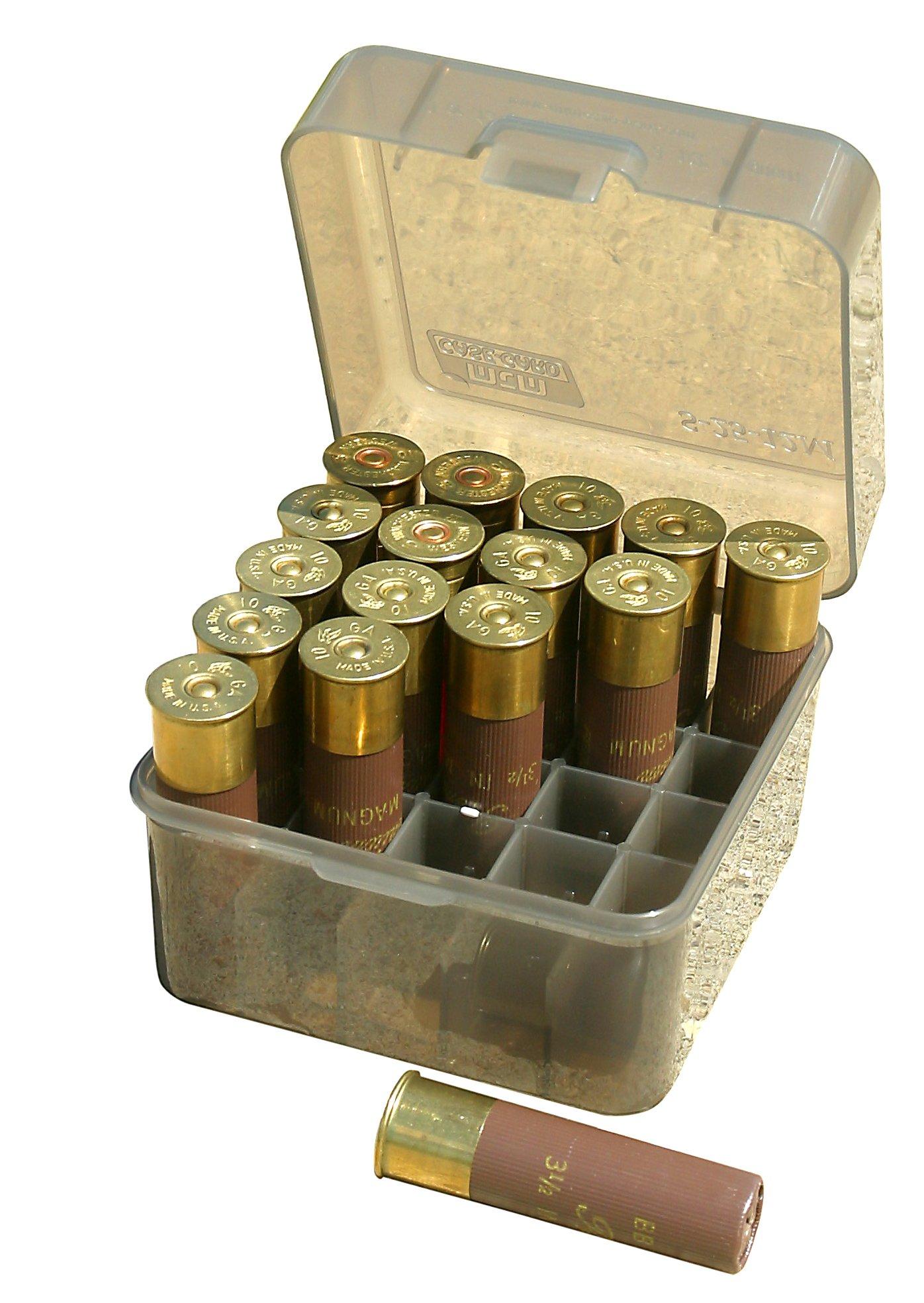 MTM 25 Round Shotshell Box (Clear Smoke)