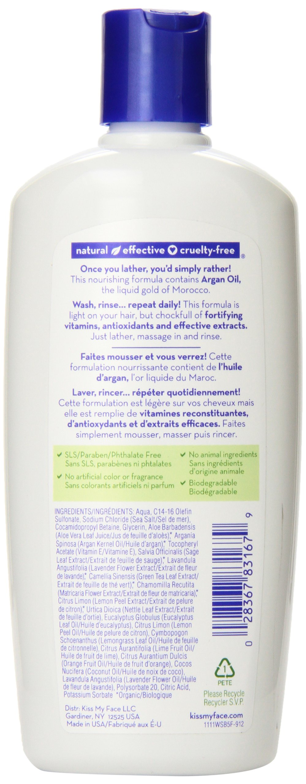 Kiss My Face Whenever Shampoo, Shampoo with Green Tea & Lime, 11 Ounce (Pack of 3) by Kiss My Face (Image #4)