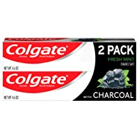 Colgate Essentials Charcoal Teeth Whitening Toothpaste, Natural Mint Flavor, Vegan...