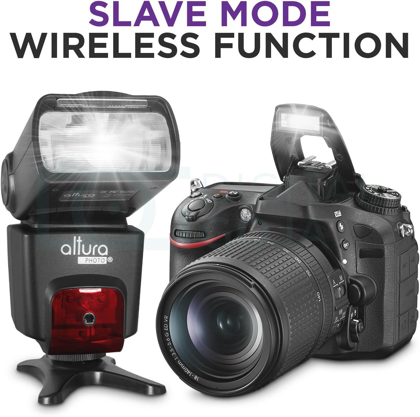 Altura Foto ap-n1001 Speedlite Flash para Nikon DSLR Cámara con ...