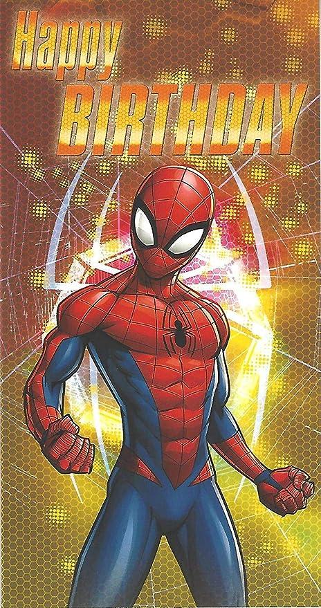 Marvel Spider-Man Personaje Tarjeta Cumpleaños: Amazon.es ...