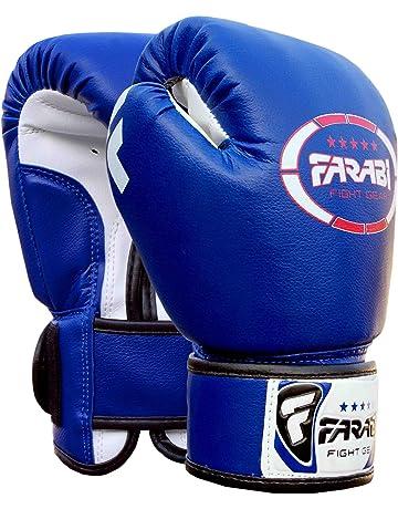 big sale 7d83a 6db27 Gants de boxe junior enfants 4 oz Bleu Sparring trainning Punching Bag Pads  Mitaines