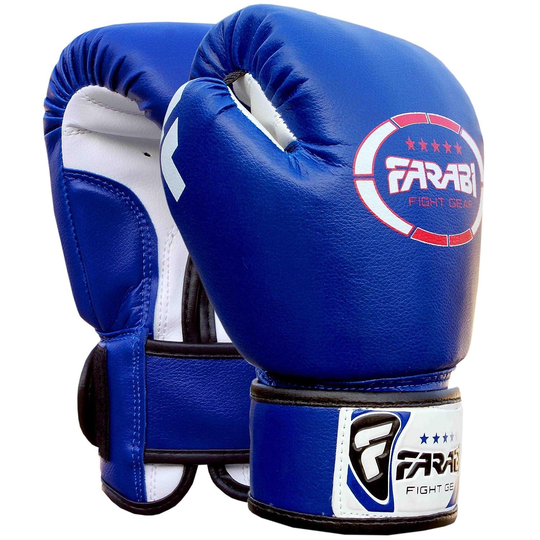 Farabi Sports Guantes de boxeo para niños piel sintética g color azul
