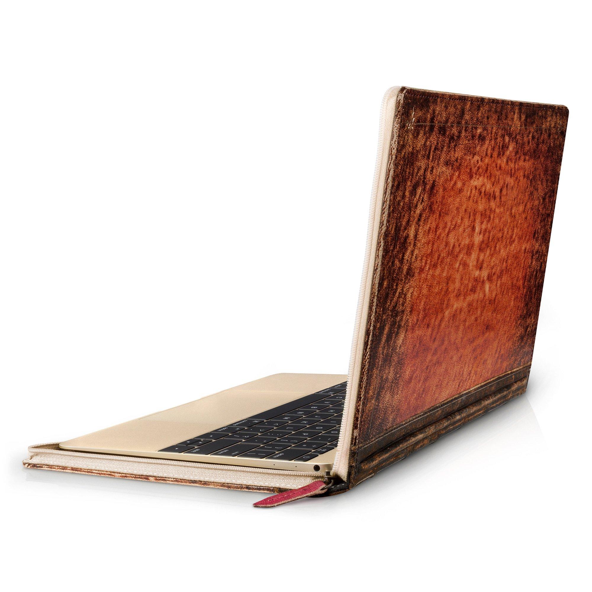 Twelve South Rutledge BookBook for MacBook | Artisan leather book case/sleeve for 12-inch MacBook