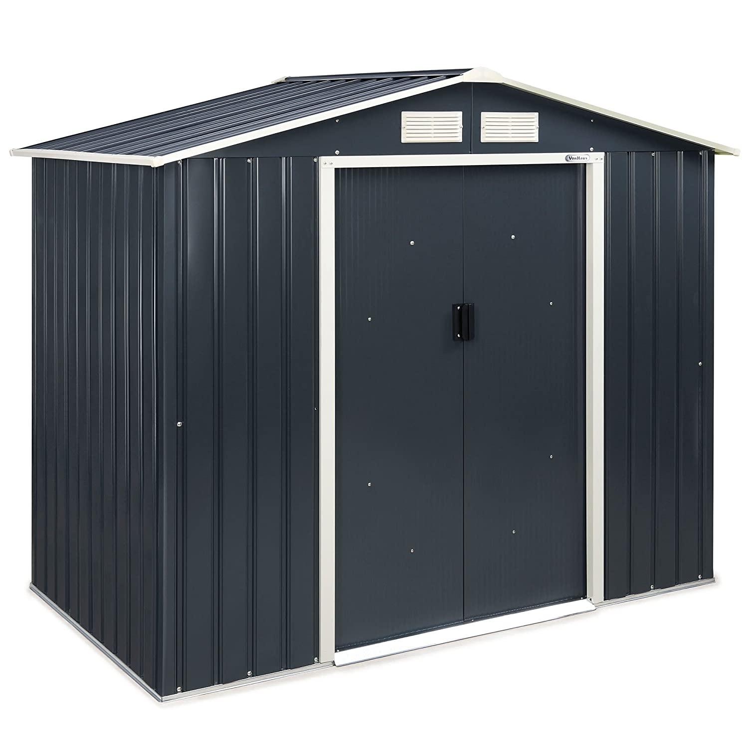 VonHaus Metal Garden Shed   Outdoor Patio Storage Building, Solid Steel  Waterproof Tool/Bike House   7 X 4ft: Amazon.co.uk: Garden U0026 Outdoors