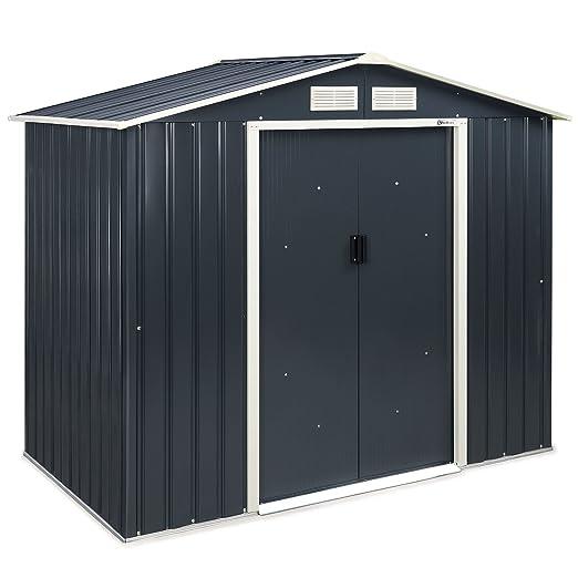Cobertizo de metal VonHaus, para jardín o uso al aire libre, para ...