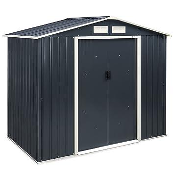 Cobertizo de metal VonHaus, para jardín o uso al aire libre, para almacenamiento en