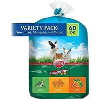 Kaytee Timothy Hay Flavor Variety Multi Pack, Spearmint, Marigold, Carrot