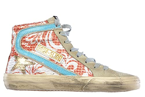 ca55cb0df8 Golden Goose Scarpe Sneakers Alte Donna in Pelle Nuove Slide ...