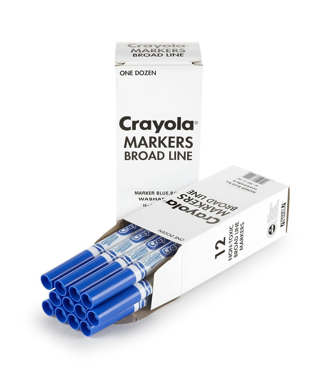Blue Binney /& Smith 58-7800-042 Crayola 12 Count Washable Bulk Markers