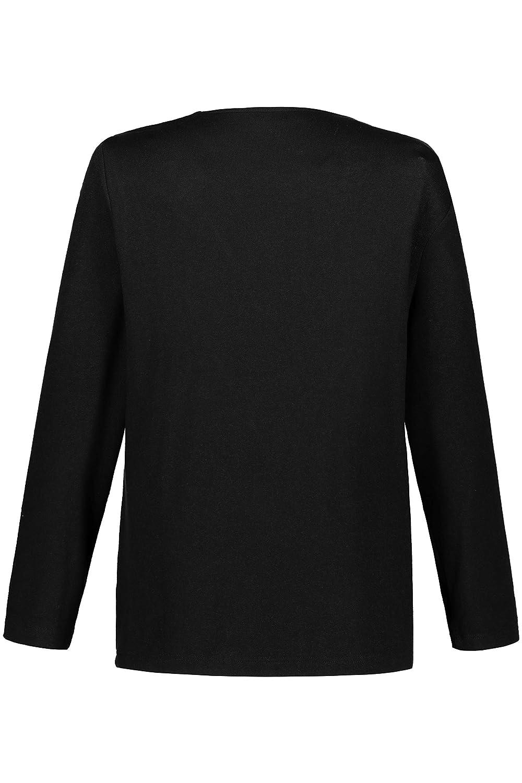 Ulla Popken Damen große Größen bis 68, Langarmshirt Langarmshirt Langarmshirt mit Bergemotiv, transparente Glitzersteine, Rundhalsausschnitt, Bequeme Passform, 719123 B07J4FYPKH Tops, T-Shirts & Blausen Geeignet für Farbe 8780de