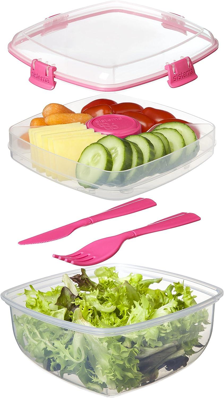 Sistema Salade to Go 1.1 L Lunch Box Food Récipient Avec Amovible Plateau /& Couverts