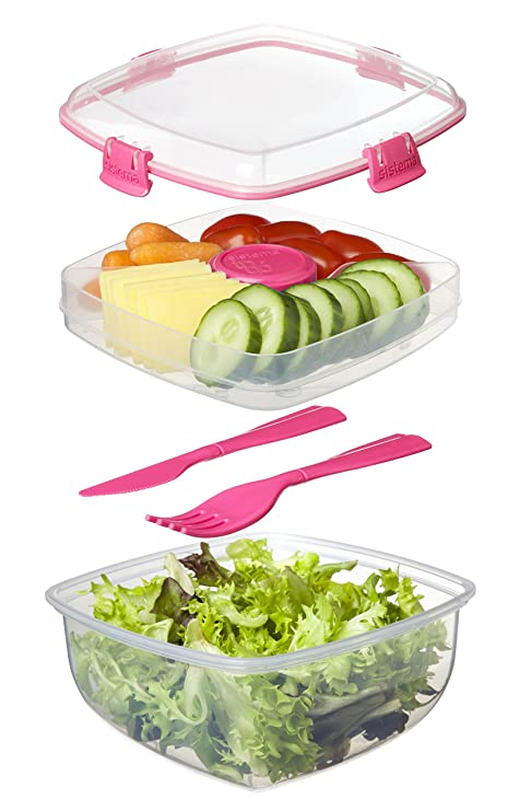Sistema To Go Collection Salad to Go Food Storage Container: Amazon.es: Hogar