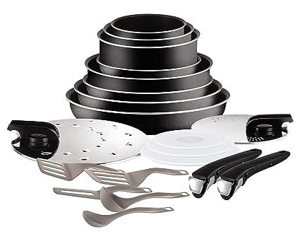 Tefal Ingenio Set de sartenes y cacerolas, 20 piezas (No compatible para inducción)