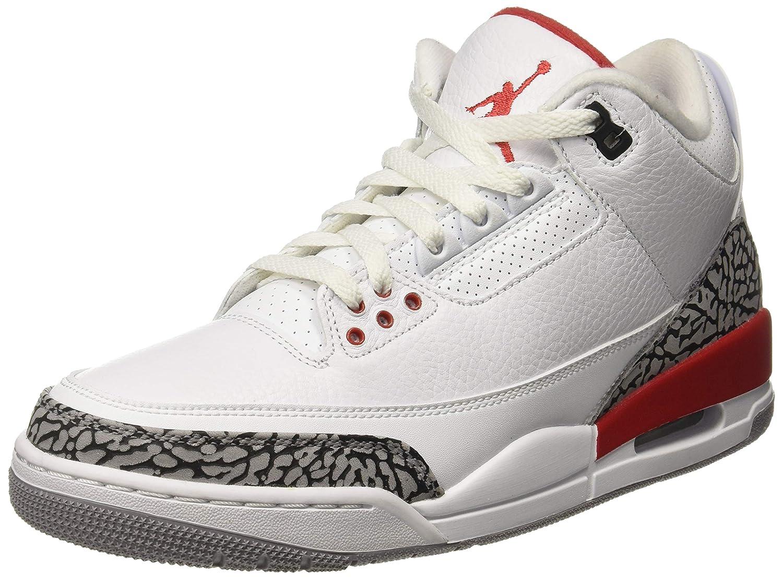 insidie Missione armeria  Buy Nike Men's Air Jordan 3 Retro White/Red-Grey-Black Basketball Shoes-13  UK/India (47.5 EU) (136064-116) at Amazon.in