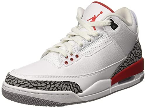 sells uk availability attractive price Buy Nike Men's Air Jordan 3 Retro White/Red-Grey-Black Basketball ...