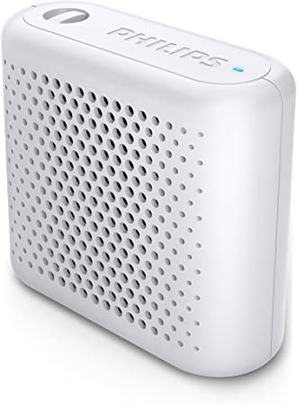 Philips Audio BT55W/00 - Mini Altavoz Bluetooth Inalámbrico Portátil, Compatible con Smartphones, iPhone, Android y Tablet, Blanco: Philips: Amazon.es: Electrónica
