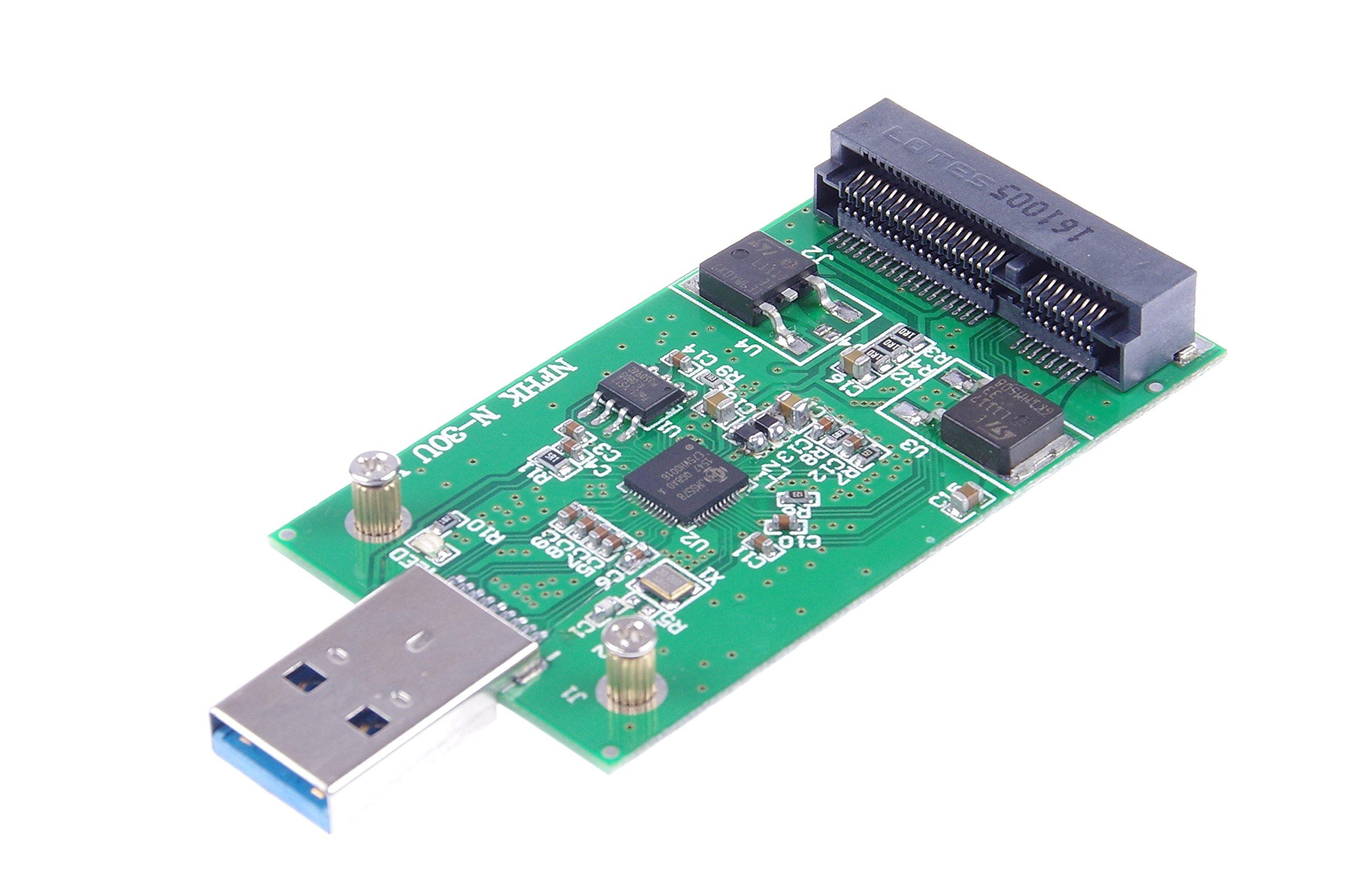 KNACRO USB 3.0 mSATA SSD Adapter as USB Disk Driver don't need USB cable USB 3.0 to mSATA SSD adapter card by KNACRO (Image #2)