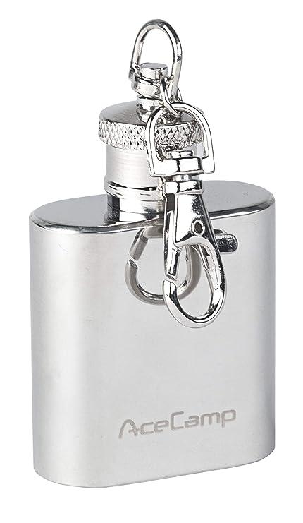 Llavero con forma de petaca Acecamp, 30 ml, 55 g, de acero ...