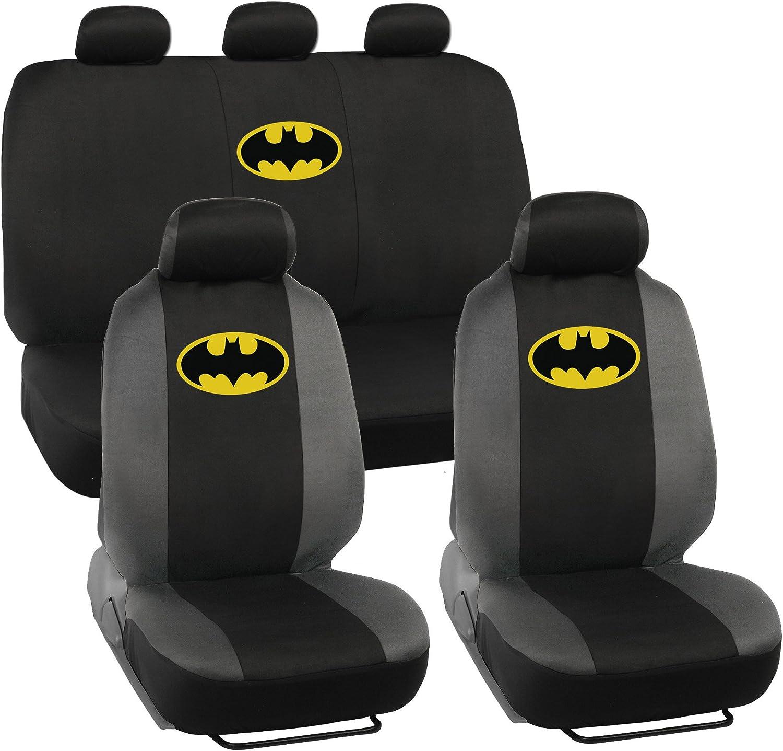 Amazon Com Complete Fit Batman Seat Covers Front Rear Full Set Automotive