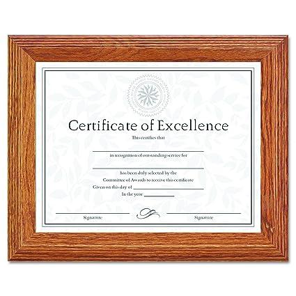 Amazon.com : DAX 2703N8X Document/Certificate Frame, Wood, 8-1/2 x ...