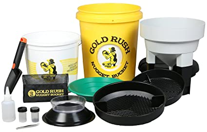 Gold Rush Nugget Bucket Bateo de oro y prospección Kit Amarillo