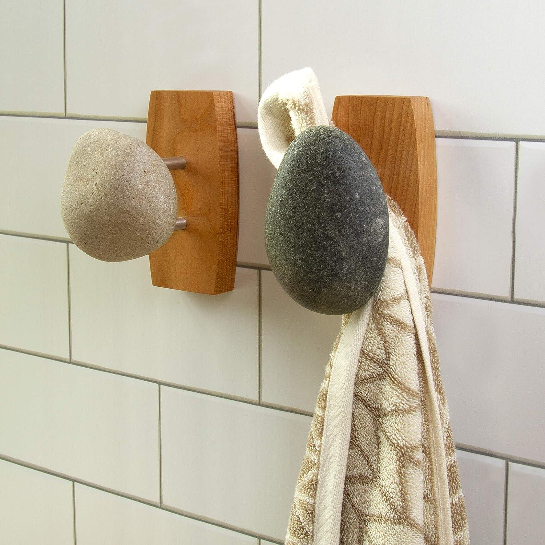 Amazon.com: Mar piedras perchero individual: Home & Kitchen