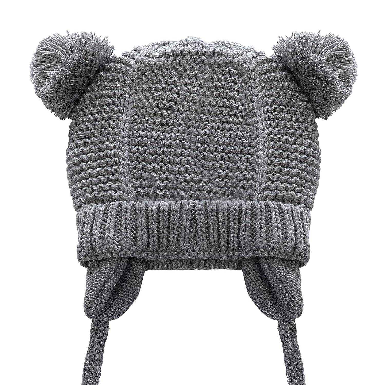 f7406645ec6 Amazon.com  Kajeer Floppy Cute Baby Hat Earflap Warm Beanie for Winter   Clothing