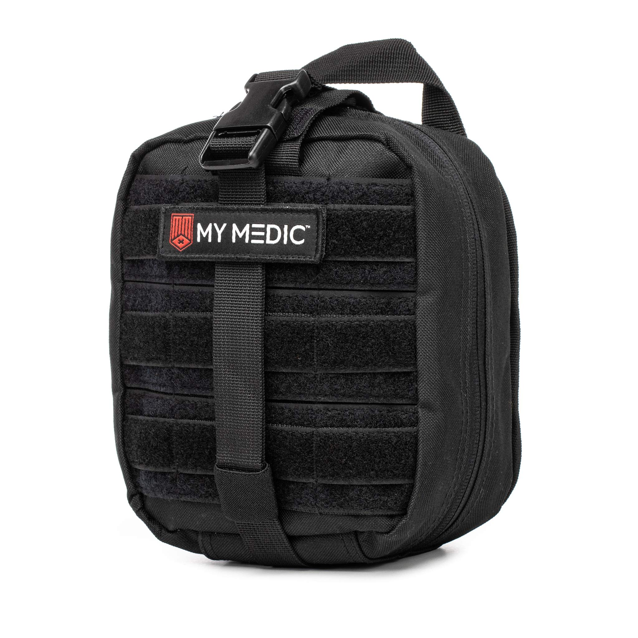 My Medic MyFak First Aid Kit - Water Resistant Bag, Bandages, Burn Aids, CPR Shield, Survival First Aid Kit, Airway, Tourniquet, Stainless Steel Instruments - Basic - Black