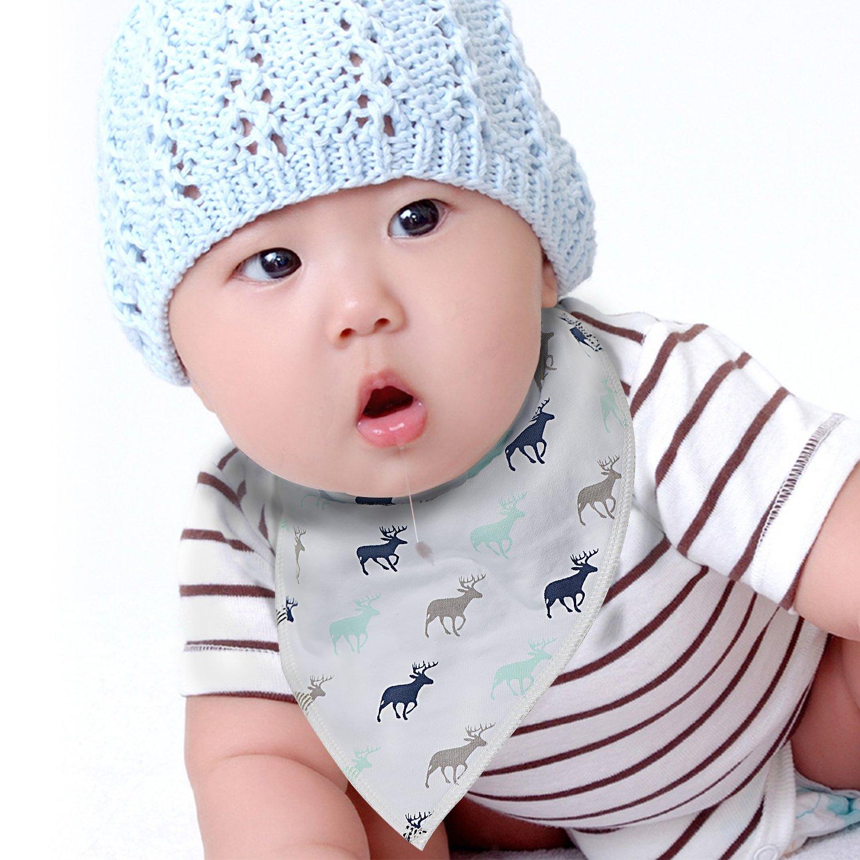 PPOGOO Baby Bandana Drool Baberos Unisex (8 Unidades) Set de Regalo ...