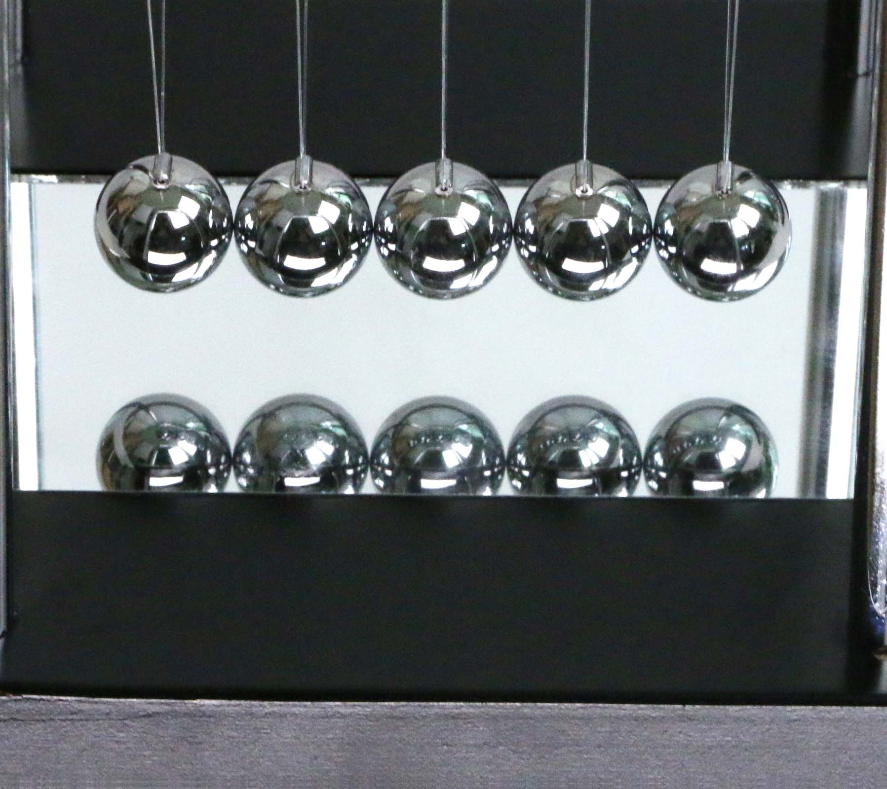 BOJIN Mirror Newton's Cradle Balance Ball Science Kinetic Energy Sculpture - Medium Mirror by BOJIN (Image #5)