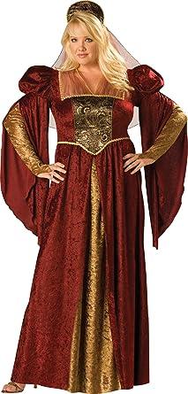 InCharacter Costumes Womenu0027s Plus-Size Renaissance Maiden Plus Size Costume Burgundy/Gold  sc 1 st  Amazon.com & Amazon.com: InCharacter Costumes Womenu0027s Plus-Size Renaissance ...