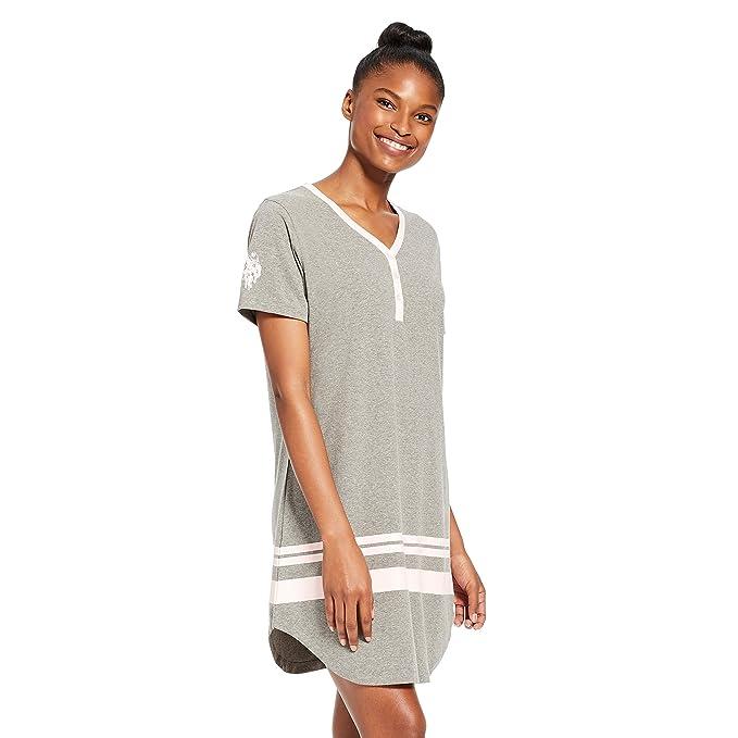 0c5534ac9c U.S. Polo Assn. Womens Flannel Cotton Plaid Button Down Dormshirt Pajamas