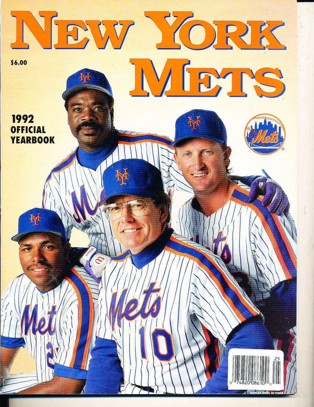 1992 New York Mets Yearbook at Amazon's Sports Collectibles