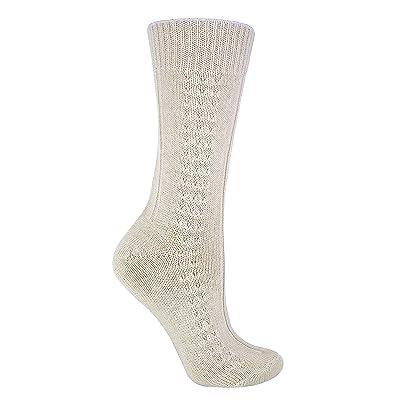 Sock Snob - Mujer Calientes 100% Lana Calcetines Estar Por Casa (37-40 eu, S198 Cream): Ropa y accesorios