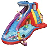 Bouncy Castle and Water Slide - 15ft Inflatable - Sharks Club - Happy Hop