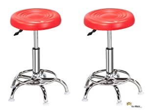 Da URBAN Doctor Stool (Red) (Set of 2) ISO and BIFMA Certified