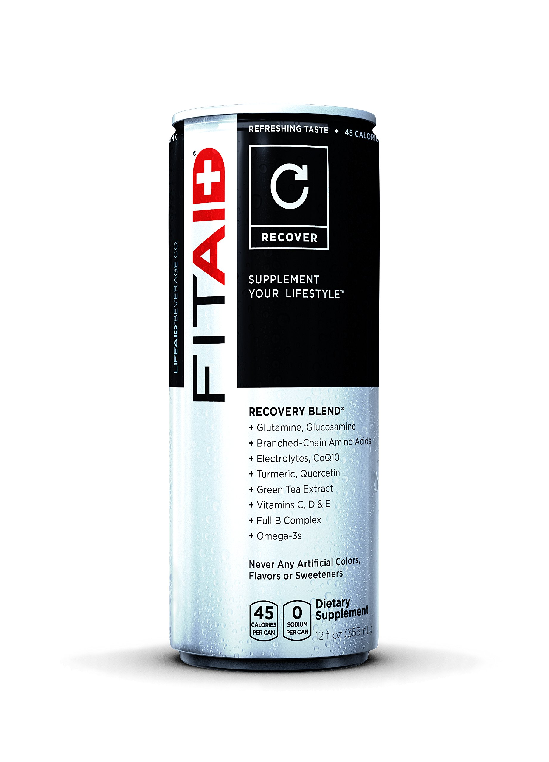 FITAID Recovery Blend, 12 Ounce Can (Pack of 12) | 100% Clean & Paleo Friendly | No Artificial Colors, Flavors Or Sweeteners | BCAAs, L-Glutamine, L-Arginine, Omega 3s