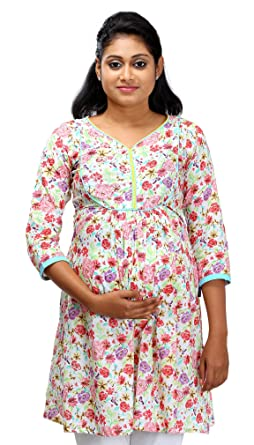 Ziva Maternity Wear Women s Cotton Maternity Kurta  Amazon.in ... 2986a0079