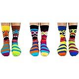 Funk You - Calcetines para hombre (desparejados, 6 unidades, tallas 39 a 46), multicolor