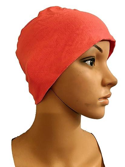 63afb14ebb7ed PEACH COTTON CAPS CHEMO BEANIES CANCER CAPS WOMEN SUMMER CHEMO CAPS SLEEP  TURBAN FOR WOMEN UNDERSCARF