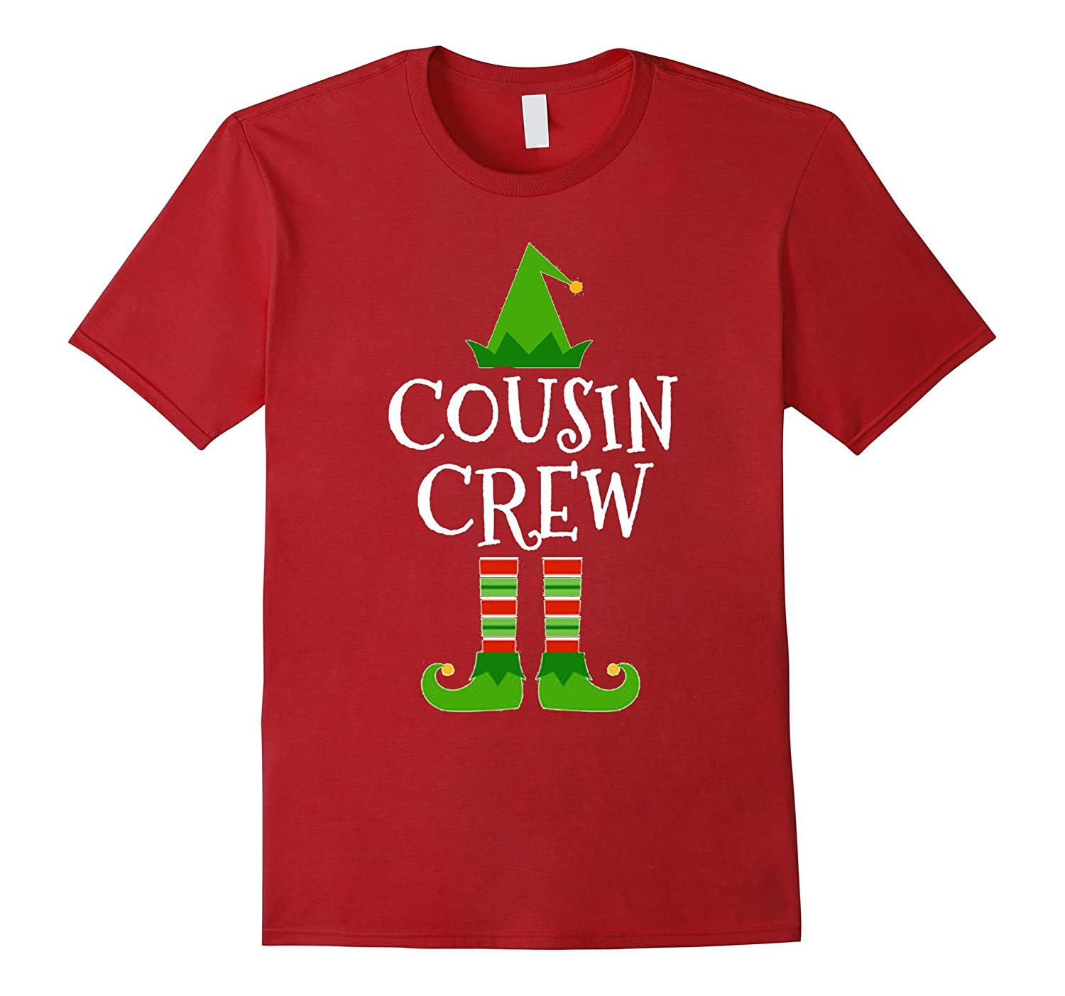 Cousin Crew Elf Matching Family Group Christmas T Shirt-ANZ