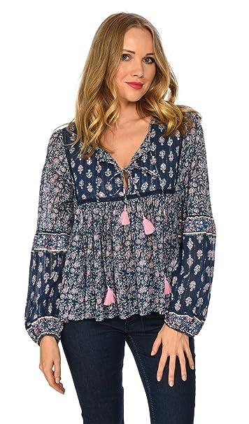 99dfba7cf1d4 Miss June - NATIVE - Donna - UNICO - Blu  Amazon.it  Abbigliamento