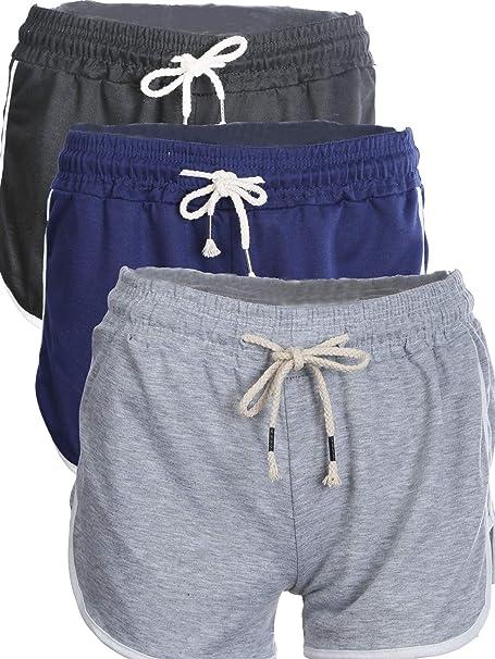 Amazon.com: 3 Pieces Women Summer Sport Shorts Plus Size ...