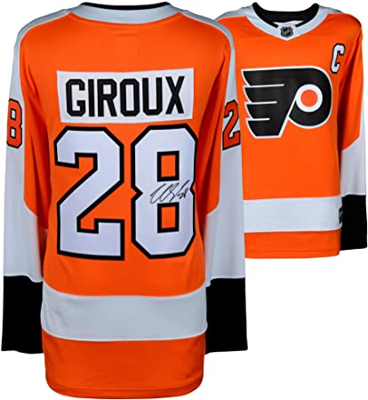 382229266 Image Unavailable. Image not available for. Color  Claude Giroux Philadelphia  Flyers Autographed Orange Fanatics Breakaway Jersey ...