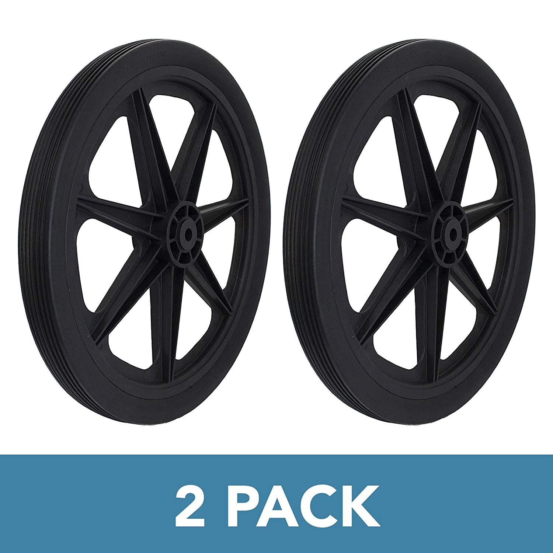 Marathon 92009-2pk Flat Free Marine Cart Replacement Tire, Black