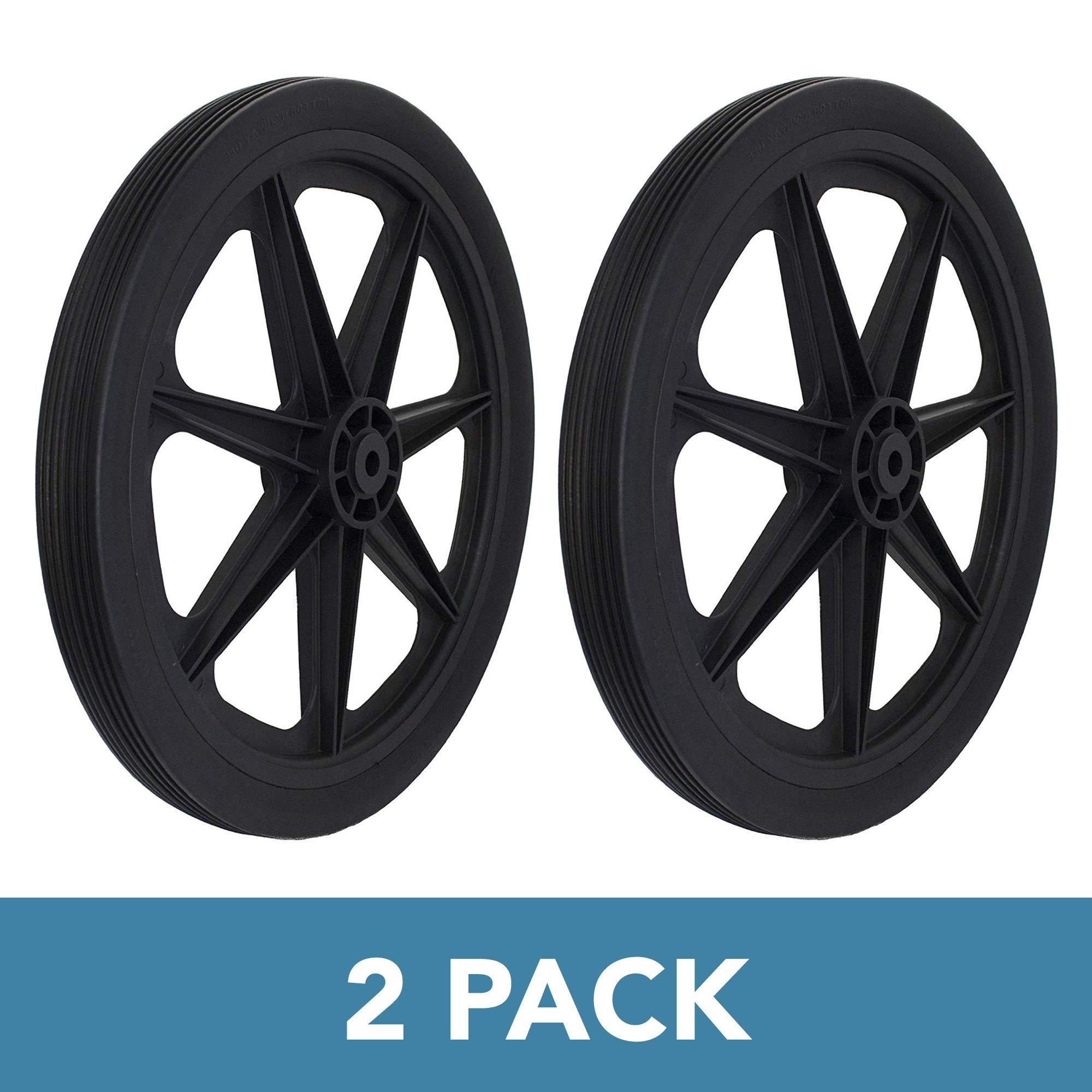Marathon 92009-2pk Flat Free Marine Cart Replacement Tire, Black by Marathon Industries