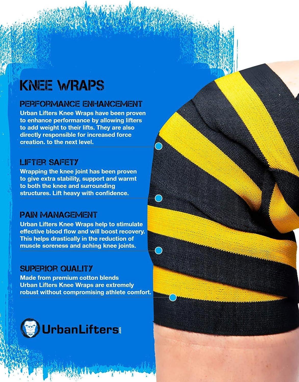 Rodilleras para halterofilia soporte de rodillas el/ástico Incluyen 2 unidades. Fuertes y resistentes Perfecto para Squats Olympic Lifting y CrossFit Especificaciones a nivel de competici/ón Powerlifting