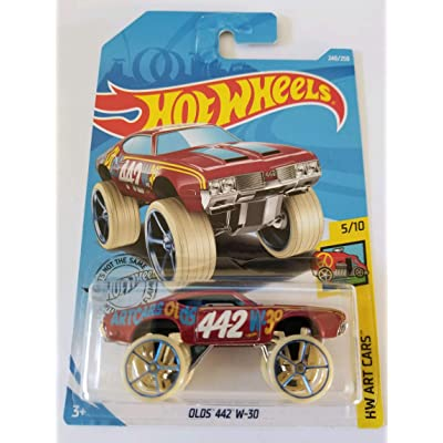Hot Wheels 2020 Hw Art Cars Olds 442 W-30, 240/250 Maroon: Toys & Games